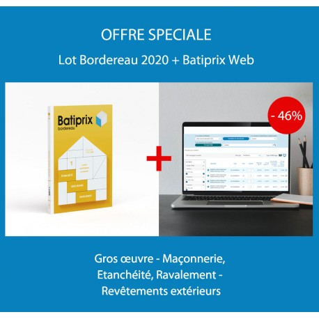 Batiprix Bordereau - Volume 1 - Édition 2020